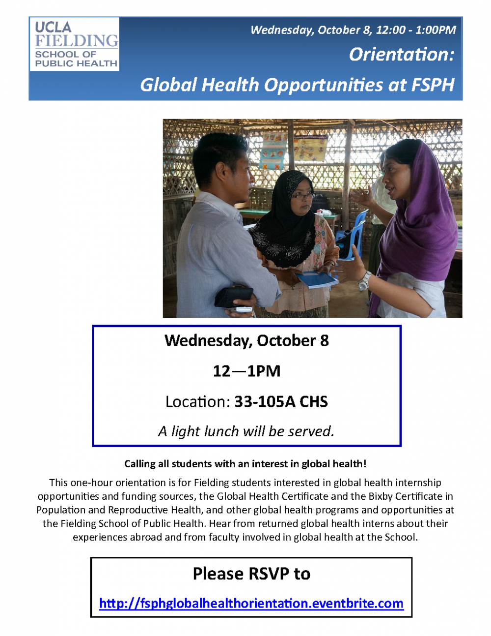 Orientation Global Health Opportunities At Fsph Jonathan And