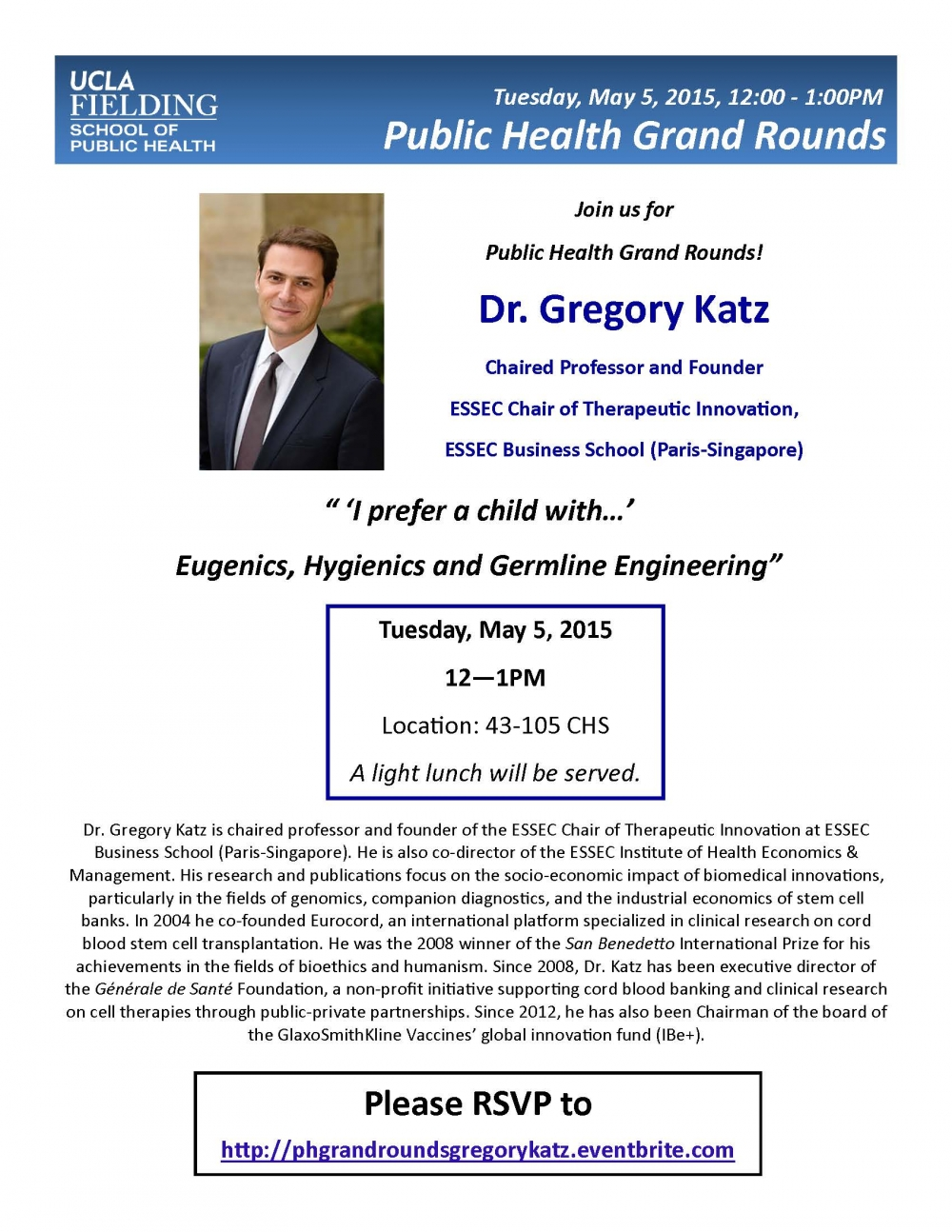 Grand Rounds with Dr  Gregory Katz | Jonathan and Karin