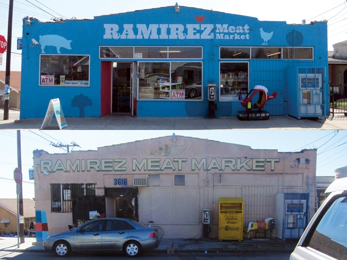 Before and after shots of a neighborhood corner store make-over.