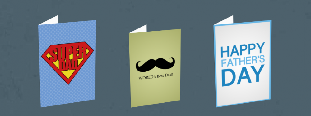 Father's Day greeting cards that highlight gender inequality experienced by fathers.