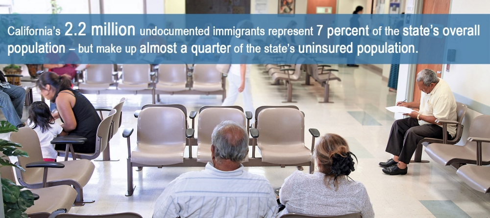 infographic about undocumented uninsured