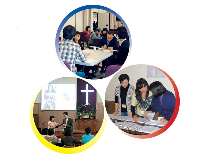 A group of images for the Korean Healthy life Program.