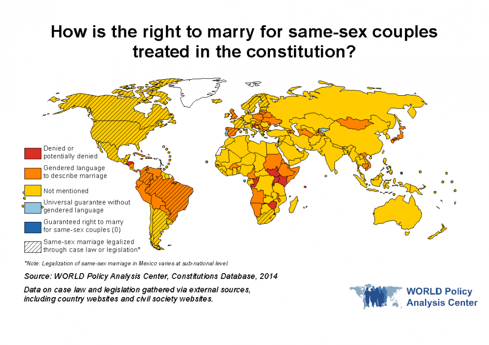 WORLD Right TO Marry Map