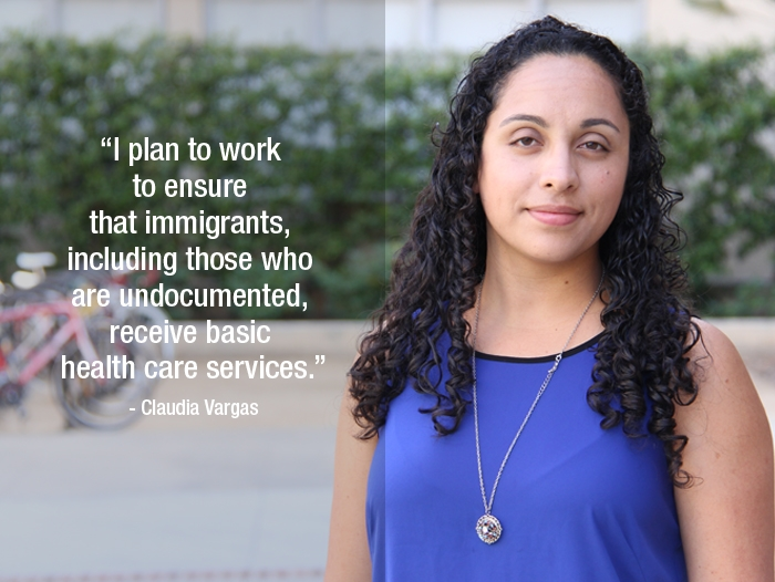 """Claudia Vargas """"I plan to work to ensure that immigrants, including those who are undocumented, receive basic health care services."""""""
