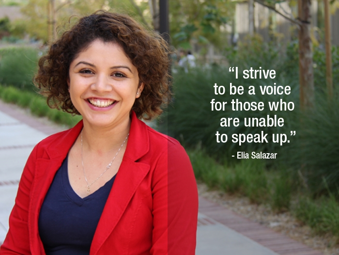 "Elia Salazar ""I strive to be a voice for those who are unable to speak up."""