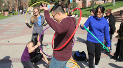 Participants of Instant Recess on UCLA campus