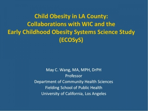 Continuing the Conversation-Child Obesity Trends in LA County: The Early Childhood Obesity Systems Science Study