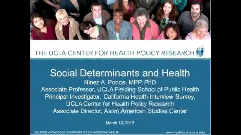 Continuing the Conversation - Social Determinants and Health