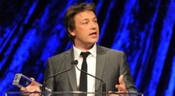 Jamie Oliver speaking at the 50th Anniversary Gala