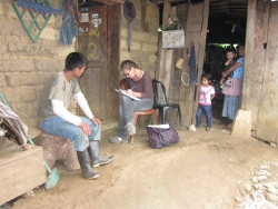 Laura Baetscher, MPH student, conducts fieldwork in Guatemala