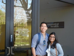 FSPH doctoral students Bryan Moy and Tamanna Rahman