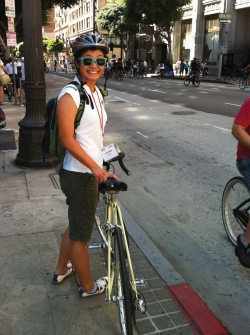 Uyen Ngo (MPH '13) at CicLAvia open-streets events