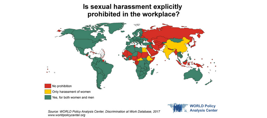 WORLD Map of Sexual Harassment