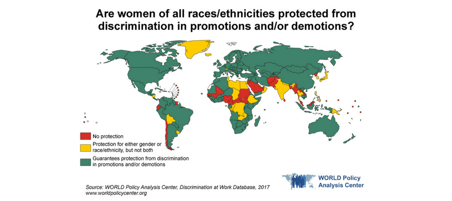 WORLD Map of Promotions and Demotions based on Race