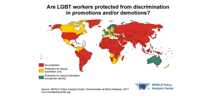 WORLD Map of Promotions and Demotions based on LGBT