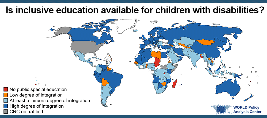 World Map: Is inclusive education available to children with disabilities?