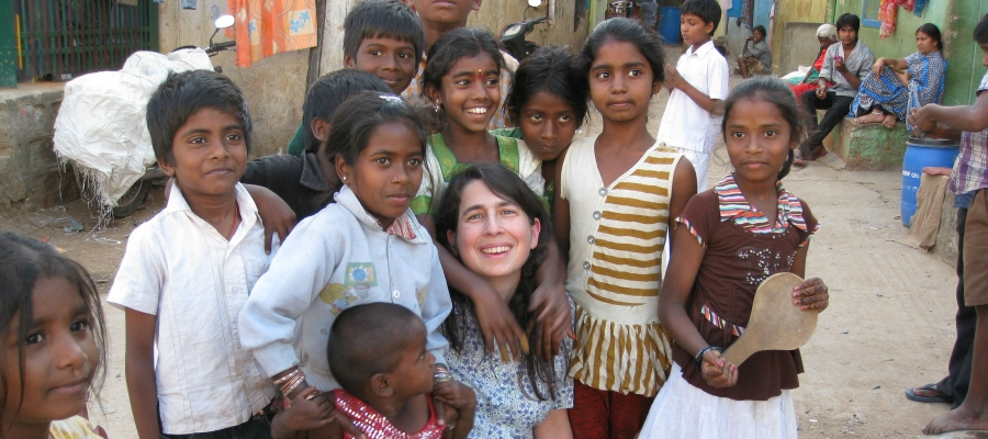Dr. Heymann in Bangalore, India.