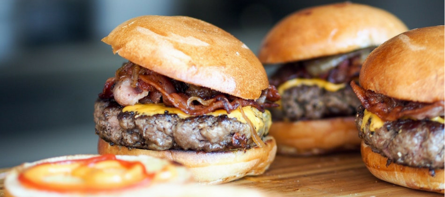 bacon cheeseburgers