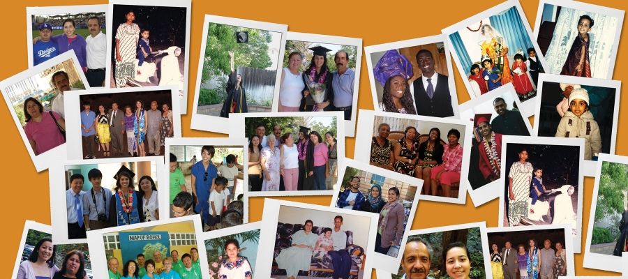 Montage of family photos from six students featured in this article