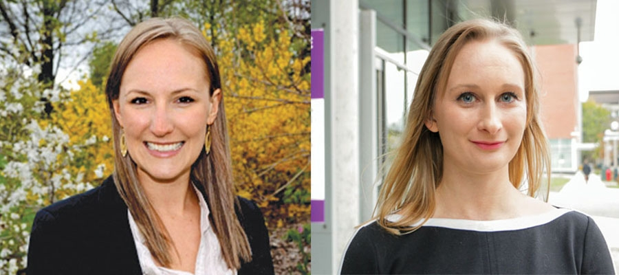 Left: FSPH PhD student Jenna van Draanen. Right: Sarah Waters, who is pursuing an executive MPH degree at the Fielding School.