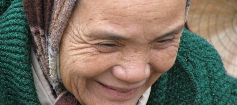 Photo of an elderly woman