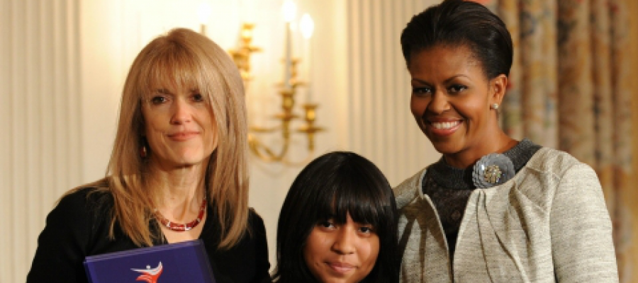 Dr. Martin with First Lady Michelle Obama
