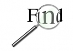 magnifying glass over the word find