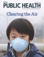 Child wearing health mask