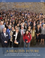 group photo of people from the UCLA Fielding School of Public Health on the cover of the June 2012 issue of UCLA Public Health magazine