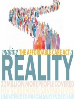 illustration of a long line of people on the cover of the November 2011 issue of UCLA Public Health magazine